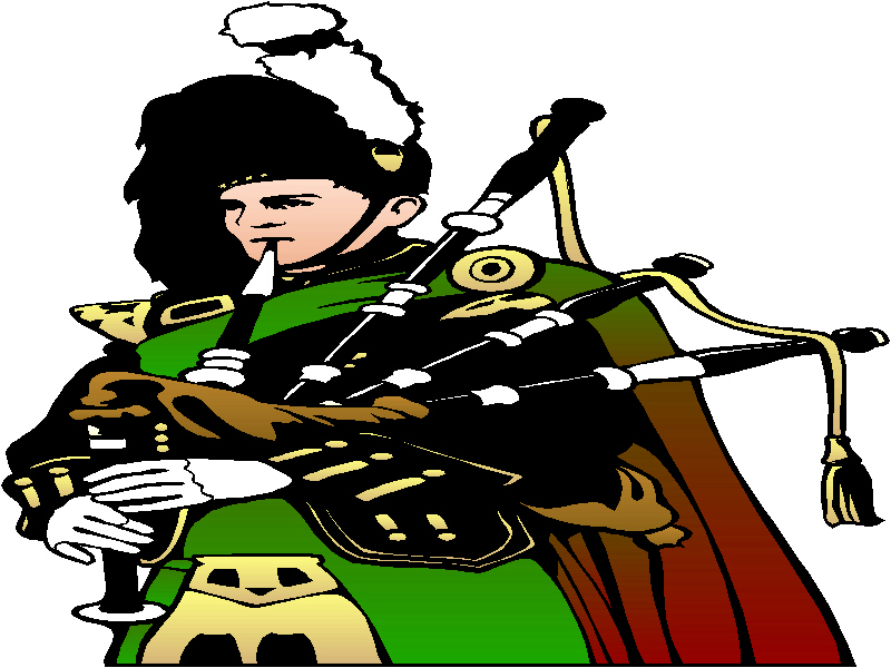 Irish Bagpipe Free Clipart.
