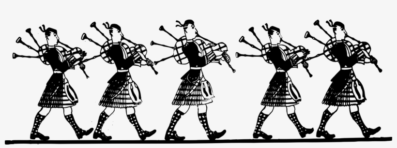 Bagpipes Pipe Band Musical Instruments Cartoon.
