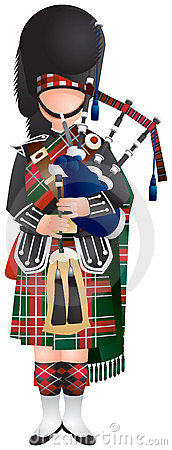 Clipart scottish piper.