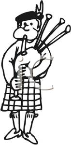 Man in kilt clipart.