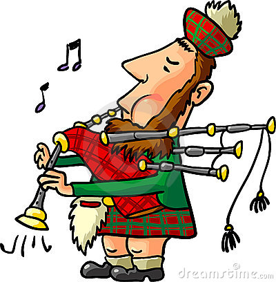 Scottish piper clipart.
