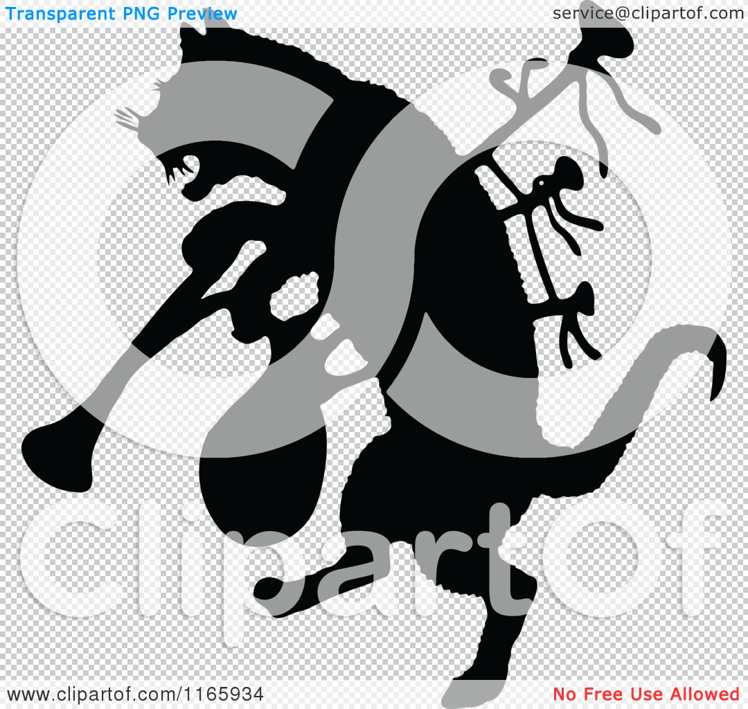 Clipart of a Silhouetted Cat with Bagpipes.
