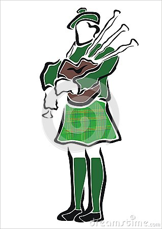 Bagpipes Stock Illustrations.