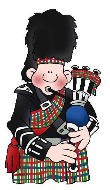 Scottish Bagpipe Player Clipart #1.