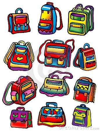 School bags clipart.