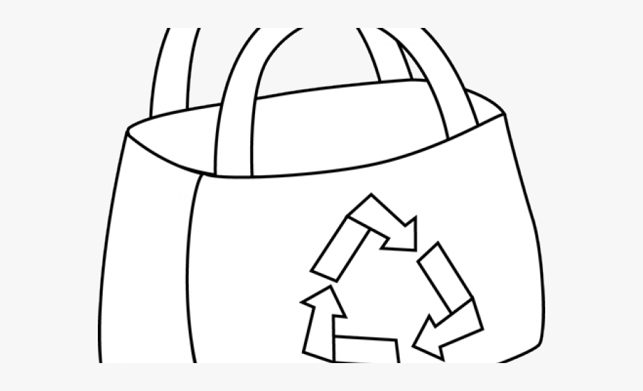Clipart Black And White Shopping Bags , Transparent Cartoon.