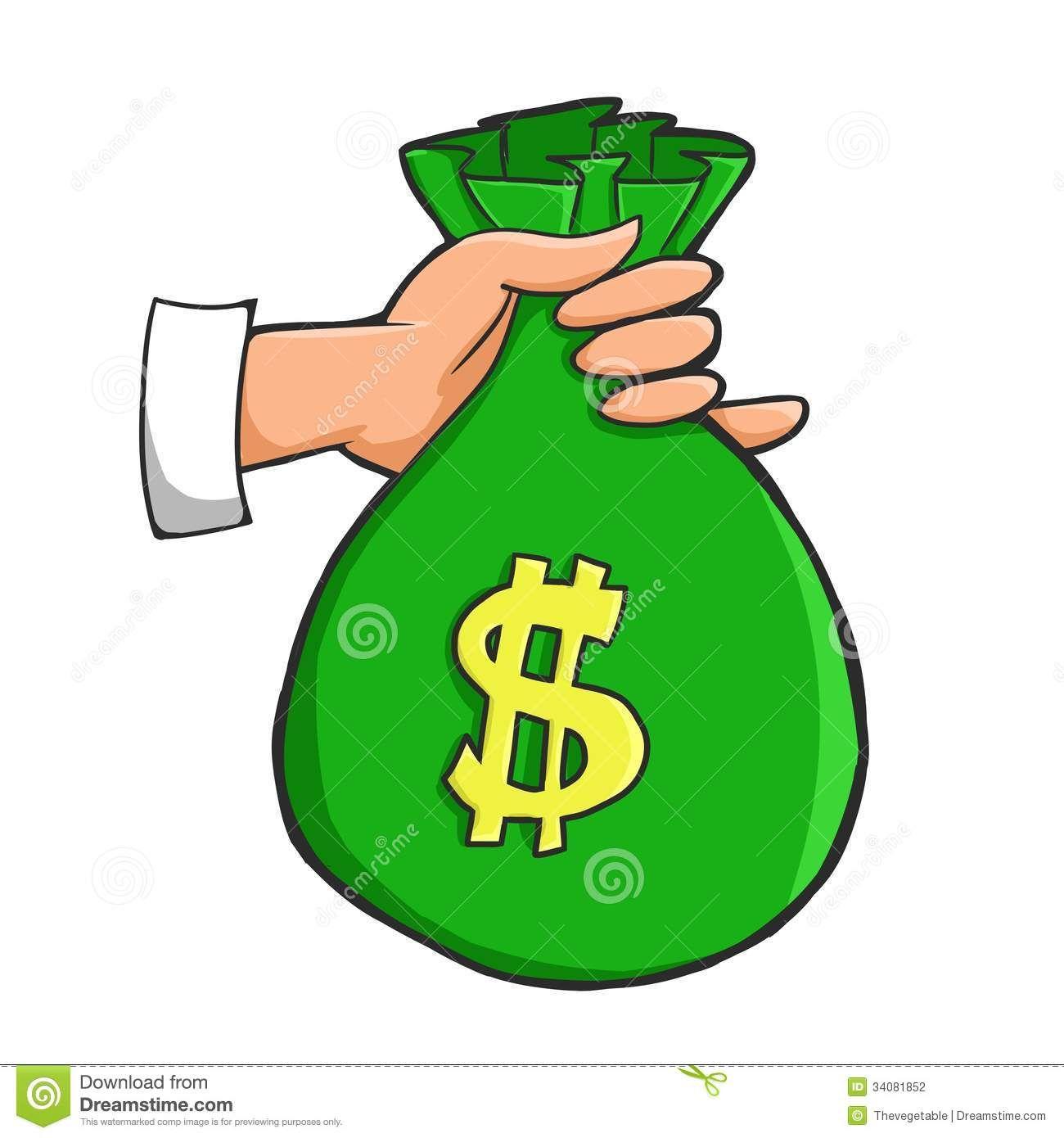 Cartoon Money Bag.