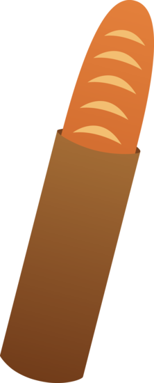 French Bread Baguette Clipart.