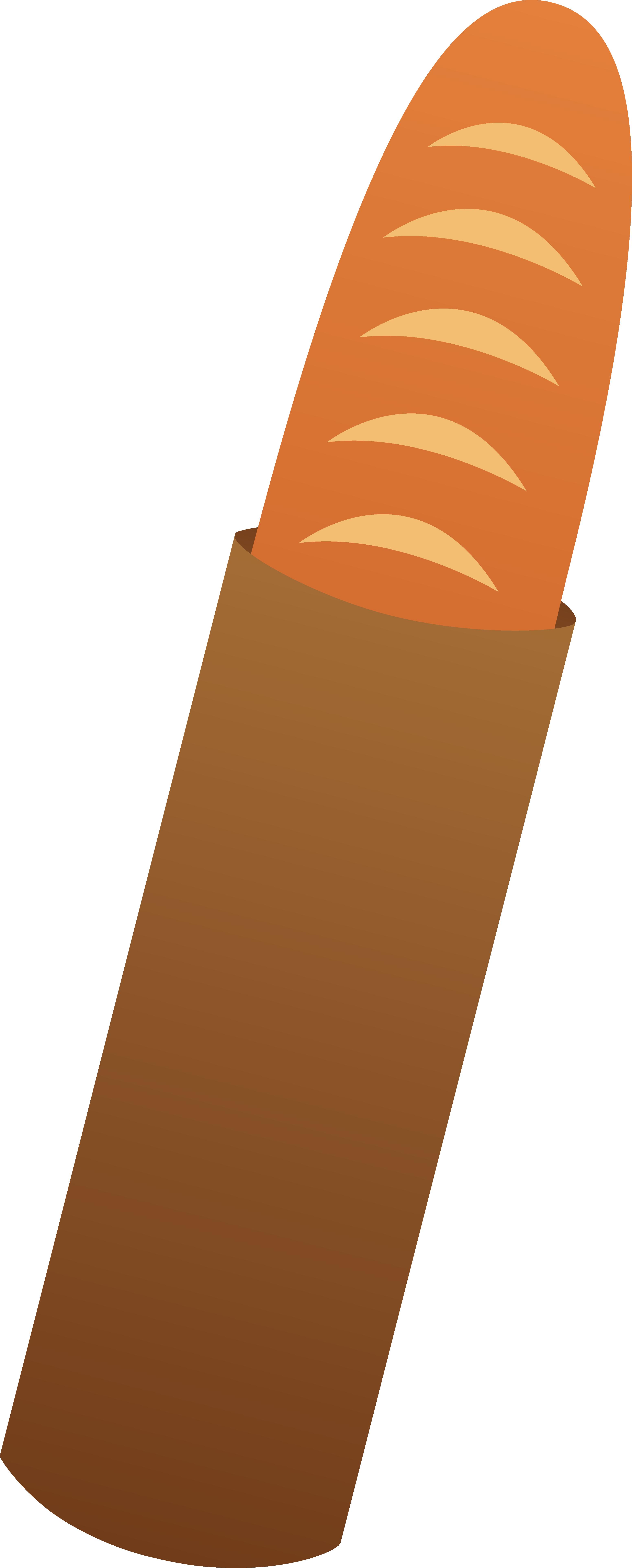 Baguette Bread Loaf in Bag.