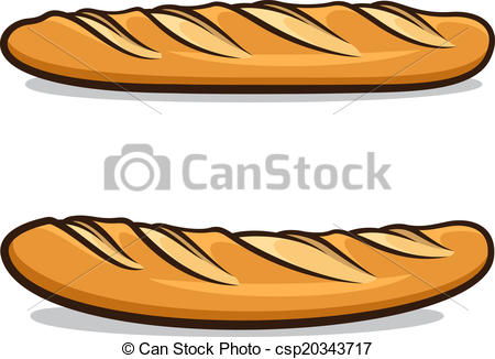 Vector Clip Art of French baguette.