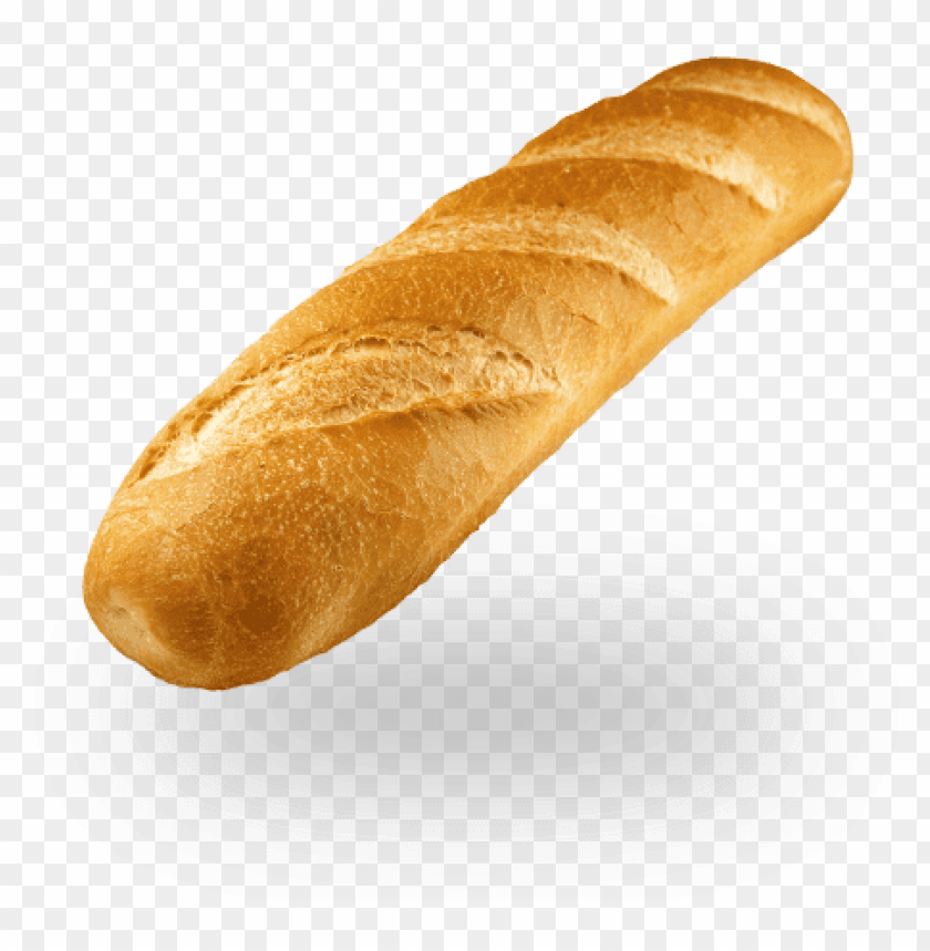 white baguette PNG image with transparent background.