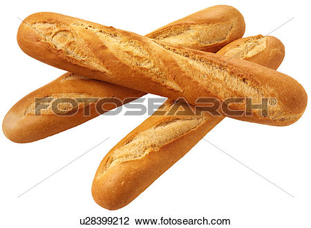Stock Photo of Three French Bread Baguettes.