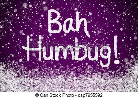 Bah Humbug Message on Purple.