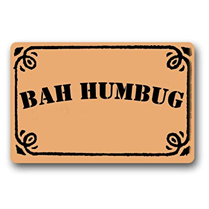 Amazon.com : BHUIA Bah Humbug Door Mat Indoor/Outdoor Rubber Non.