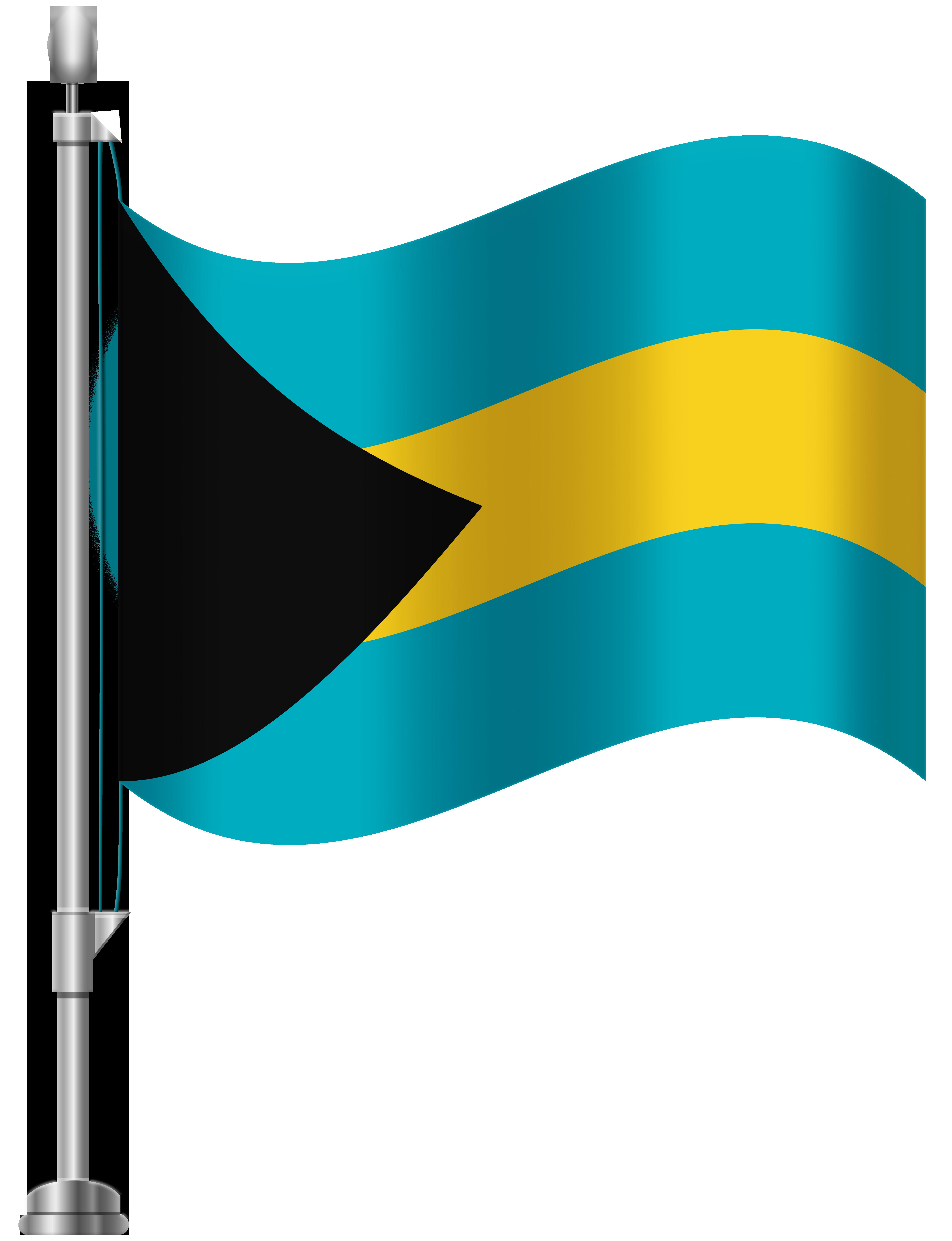 Bahamas Flag PNG Clip Art.