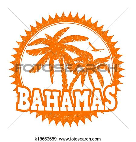 Clip Art of Bahamas stamp k18663689.