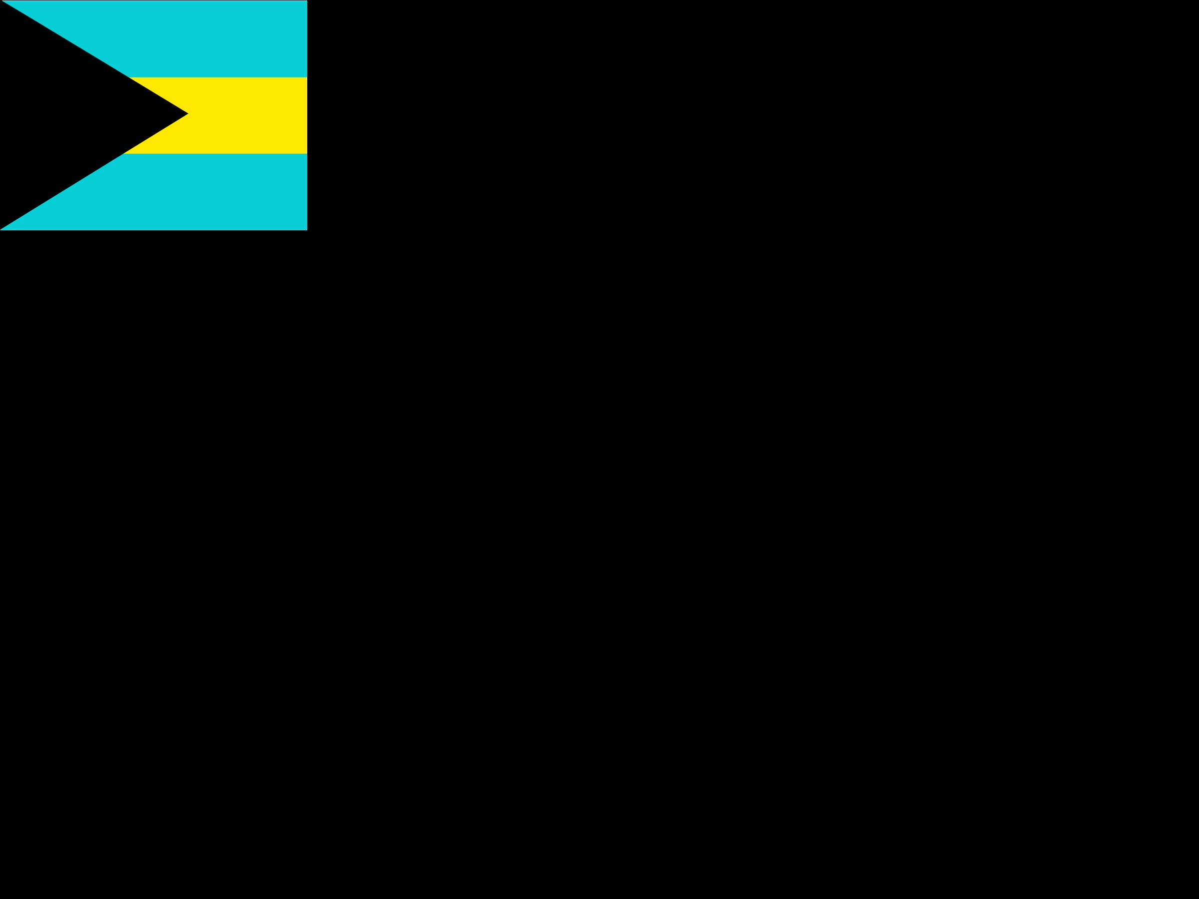 Flag of Bahamas Logo PNG Transparent & SVG Vector.