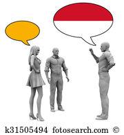 Bahasa Clipart and Stock Illustrations. 3 bahasa vector EPS.