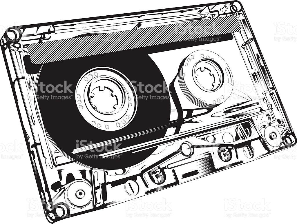 Nahaufnahme Eines Audiokassette Vektor Illustration 165693596.