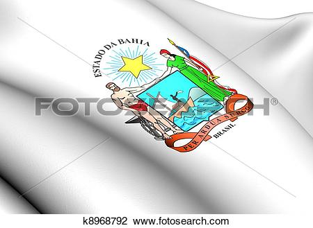 Clip Art of Bahia Coat of Arms, Brazil. k8968792.