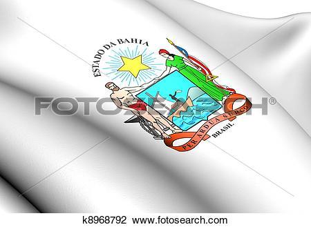 Clip Art of Bahia Coat of Arms, Brazil. k8968792.