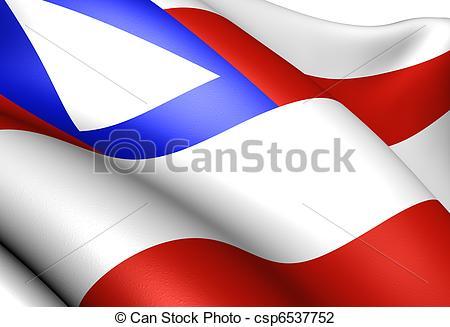 Clip Art of Flag of Bahia Close up csp6537752.