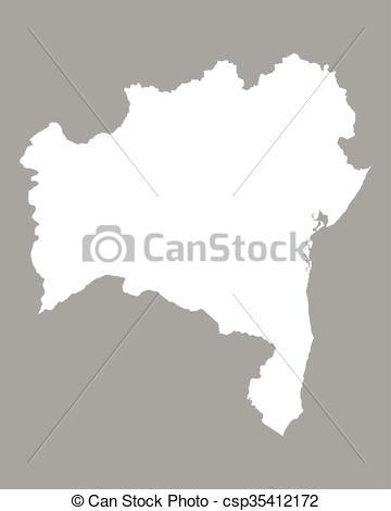 Vectors Illustration of Map of Bahia csp35412172.