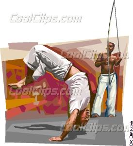 Bahia culture Capoeira Vector Clip art.