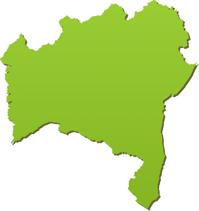 Mapa Bahia Png Vector, Clipart, PSD.