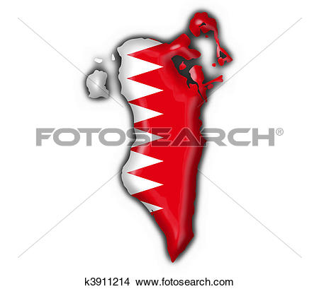 Drawings of bahrain button flag map shape k3911214.