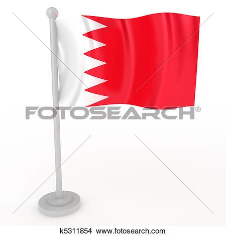 Clip Art of Bahrain flag k2224397.