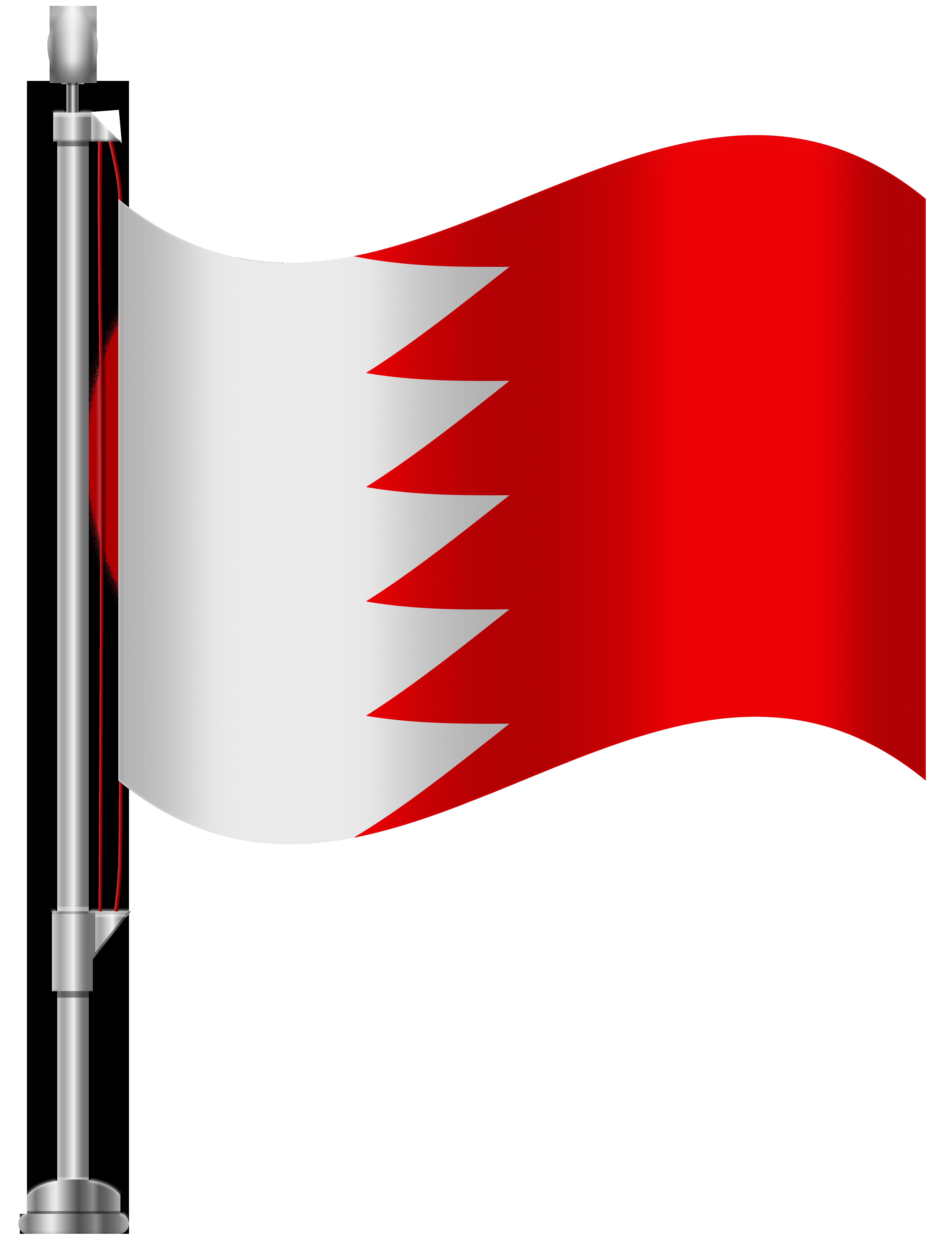 Bahrain Flag PNG Clip Art.