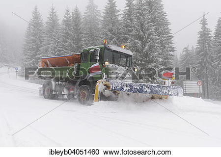 "Stock Photography of ""Snowplough on the Black Forest High Road."