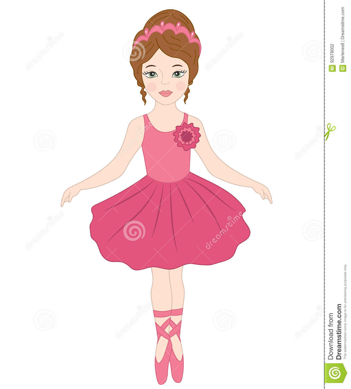 3043 Ballerina free clipart.