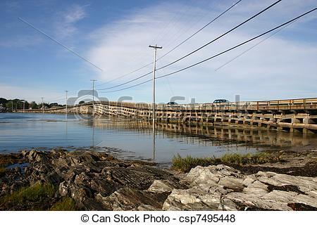 Pictures of Cribwork bridge.
