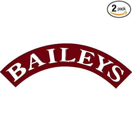 Amazon.com: NBFU DECALS Logo Baileys (Burgundy) (Set of 2.