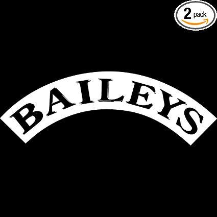 Amazon.com: NBFU DECALS Logo Baileys (White) (Set of 2.