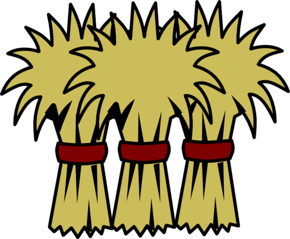 Bail of hay clipart.
