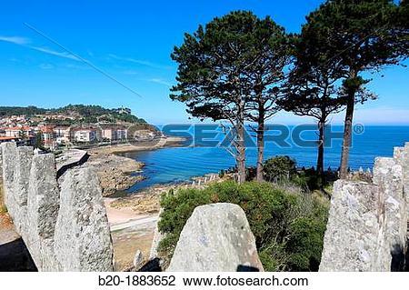 Stock Photo of Monterreal castle, Baiona, Pontevedra, Galicia.