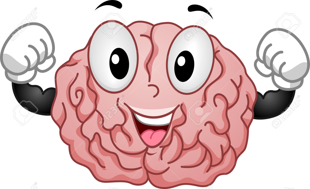 Strong brain clipart.
