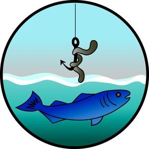 Clip art fishing bait.