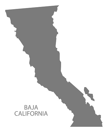 Baja california norte map clipart.