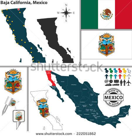 """""""baja California Map"""" Stock Photos, Royalty."""