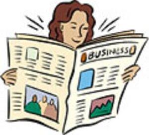 Cartoon Newspaper Clipart.