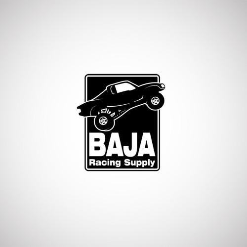 logo for Baja Racing Supply.