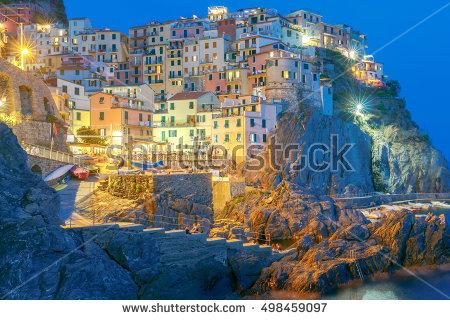 Ligurian Villages Stock Photos, Royalty.