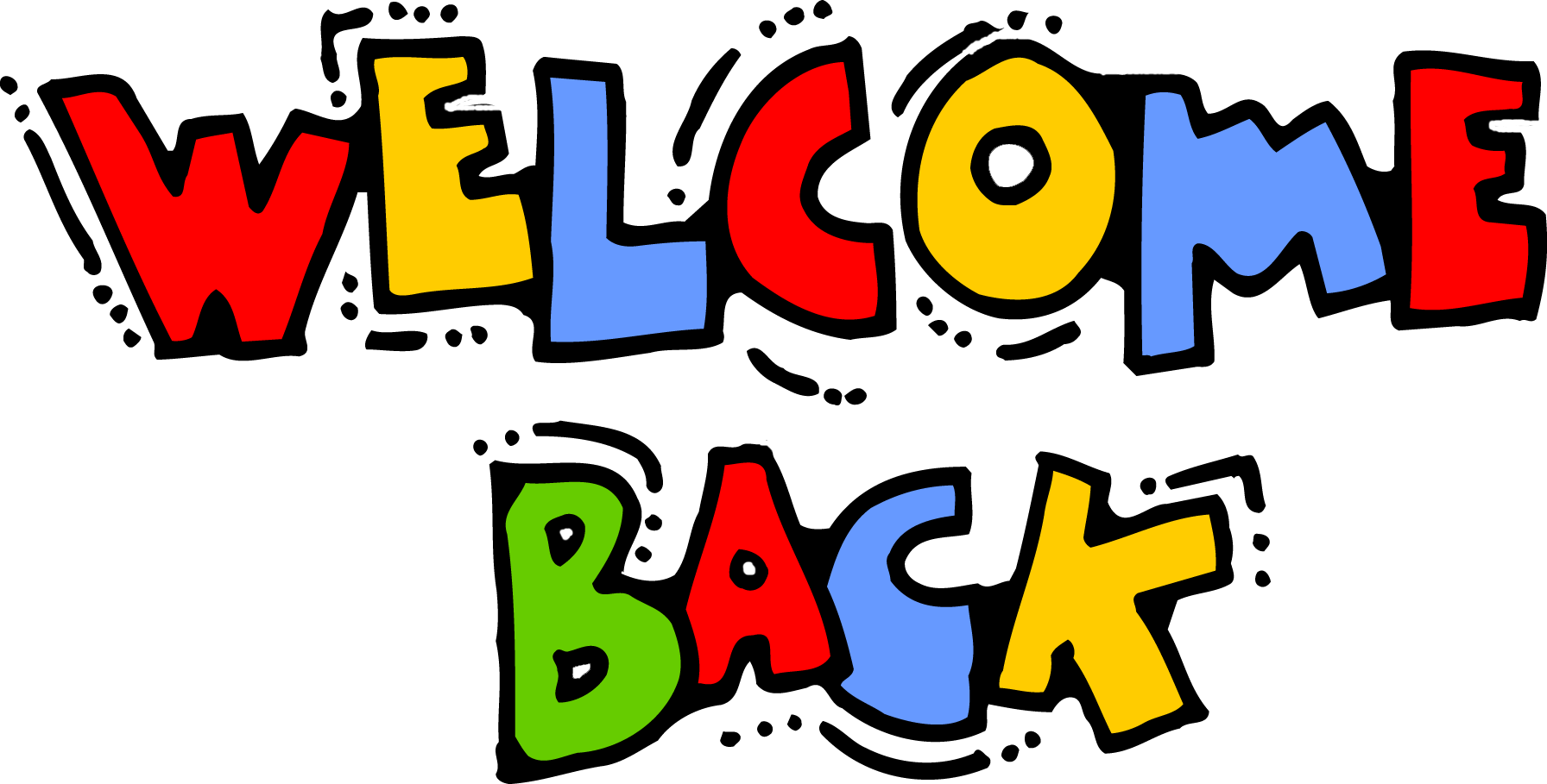 Welcome Back Graphics Clipart.