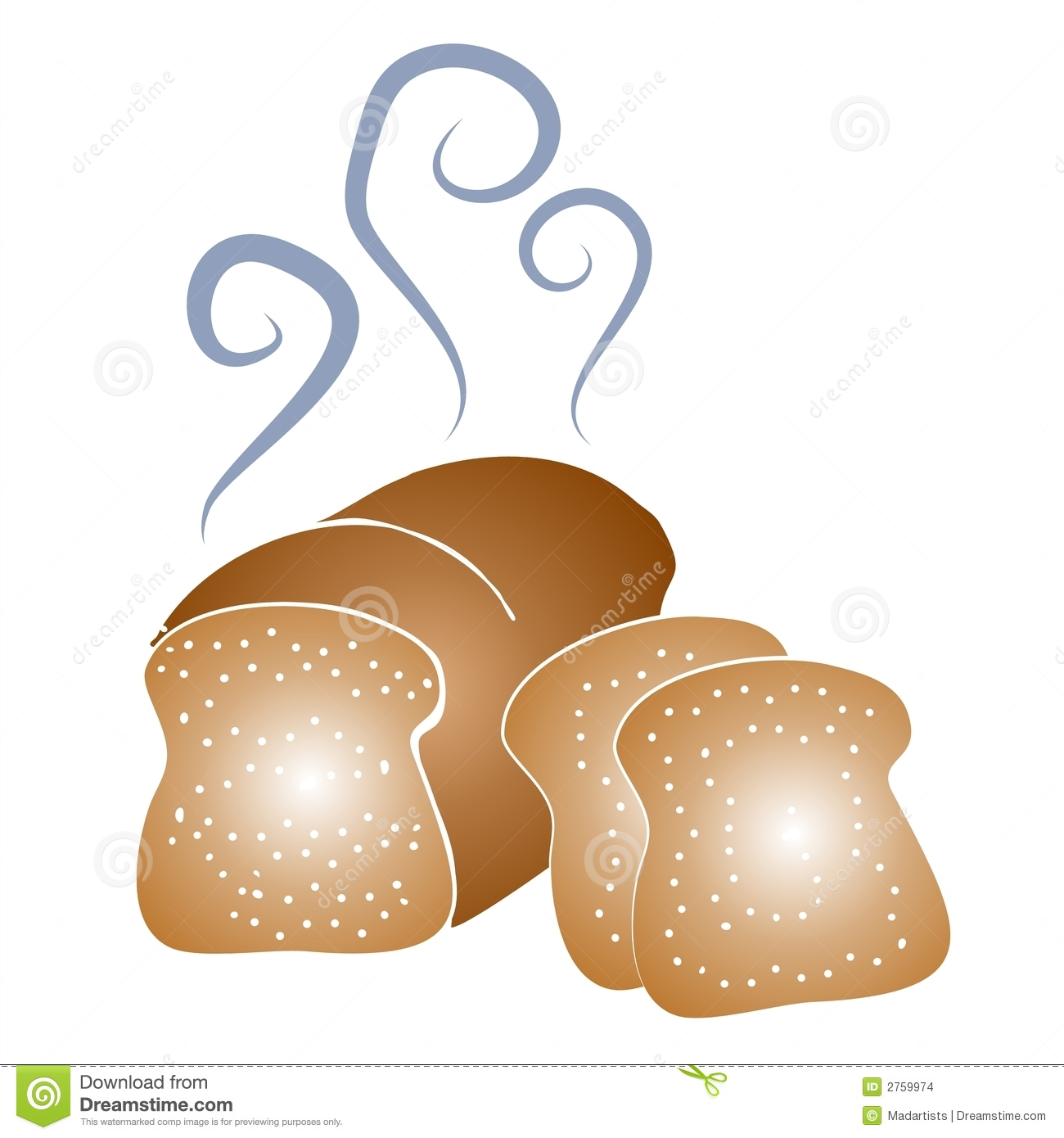 Fresh Baked Bread Clipart Stock Images.