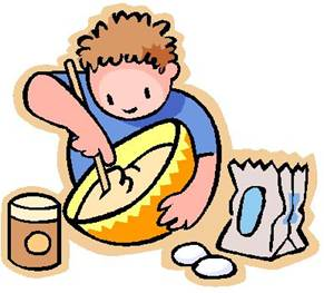 Baking Bread Camping Clipart.