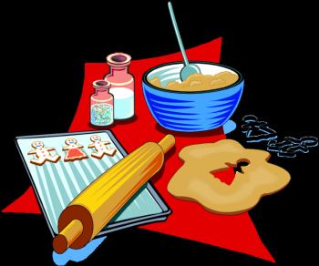 Baking Cookies Clip Art.